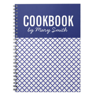 Blue CookBook With Custom Cover Notebook