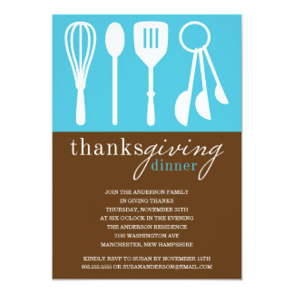 BLUE COOKING | THANKSGIVING DINNER INVITE