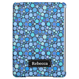 Blue cool bubbles pattern case for iPad air