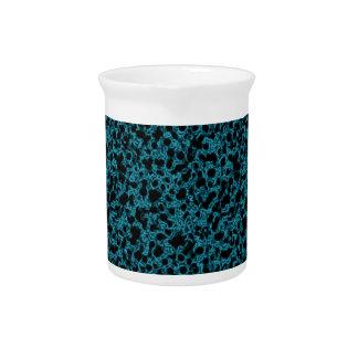Blue coral pattern pitcher