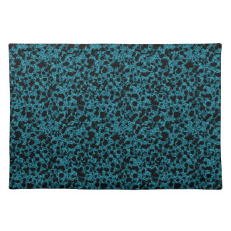 Blue coral pattern placemat