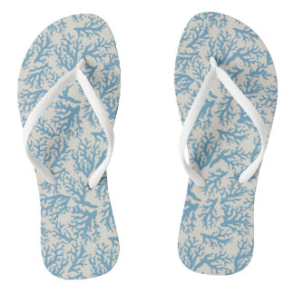 Blue Coral Pattern Thongs