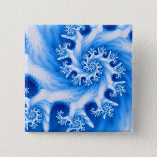 Blue Coral Spiral Button