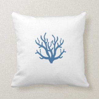 Blue Coral Toss Pillow Cushion