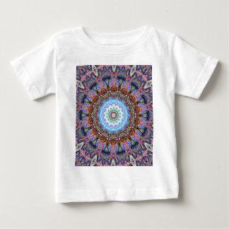 Blue Corn Flower Exploding In A Kaleidoscope Baby T-Shirt