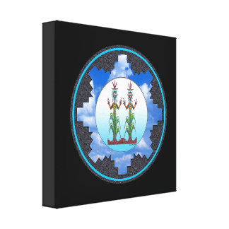 Blue Corn People, Navajo Mythology Canvas Print