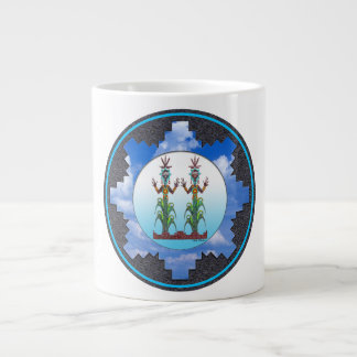 Blue Corn People, Navajo Mythology Large Coffee Mug