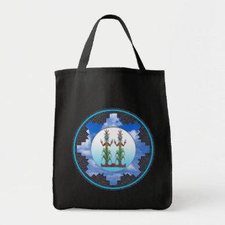 Blue Corn People, Navajo Mythology Tote Bag