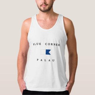 Blue Corner Palau Alpha Dive Flag Singlet