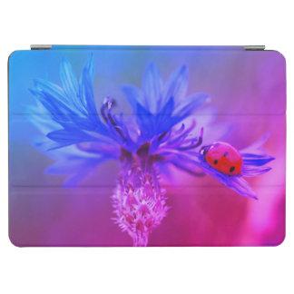 Blue Cornflower with a Ladybug iPad Air Cover