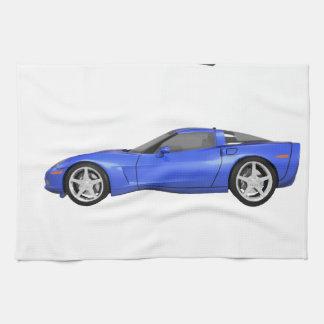 Blue Corvette: Tea Towel