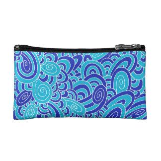 blue cosmetics bags