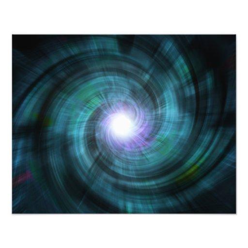 Blue Cosmic Twirl