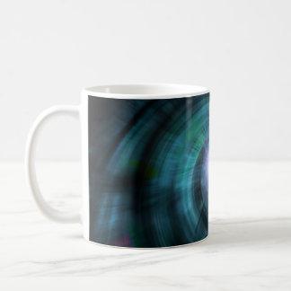 Blue Cosmic Twirl Basic White Mug