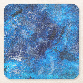 Blue Cosmos #1 Square Paper Coaster
