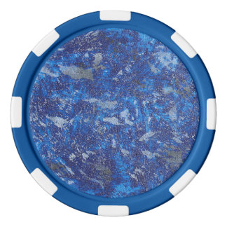 Blue Cosmos #2 Poker Chips