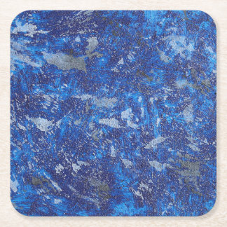 Blue Cosmos #2 Square Paper Coaster
