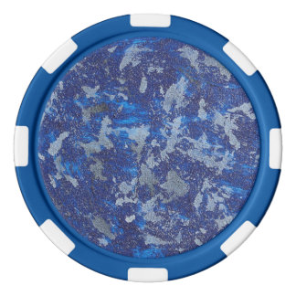 Blue Cosmos #3 Poker Chips