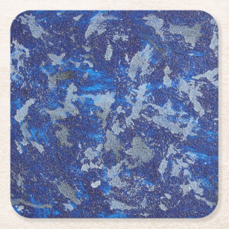 Blue Cosmos #3 Square Paper Coaster