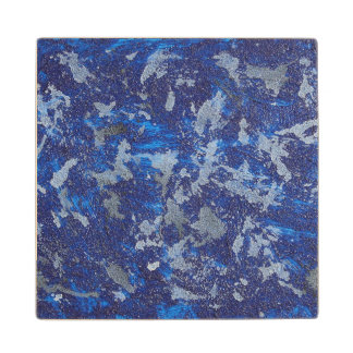 Blue Cosmos #3 Wood Coaster