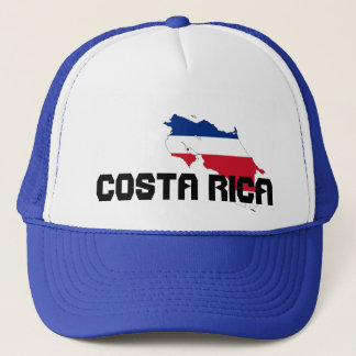 Blue Costa Rica Map Hat
