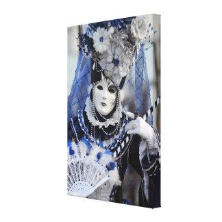 Blue Costume Canvas Prints