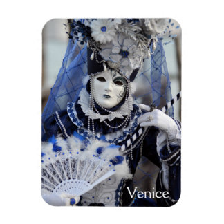 Blue Costume Rectangular Photo Magnet