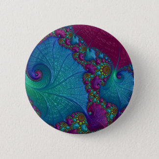 Blue Cotton Candy 6 Cm Round Badge