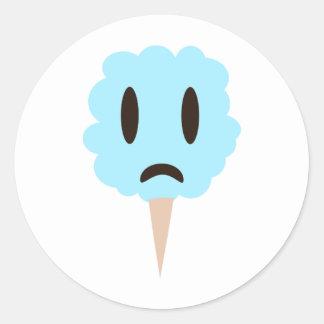 Blue cotton candy classic round sticker