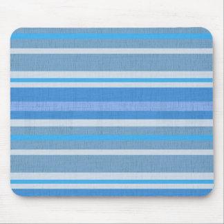 Blue Cotton Stripes Mouse Pad