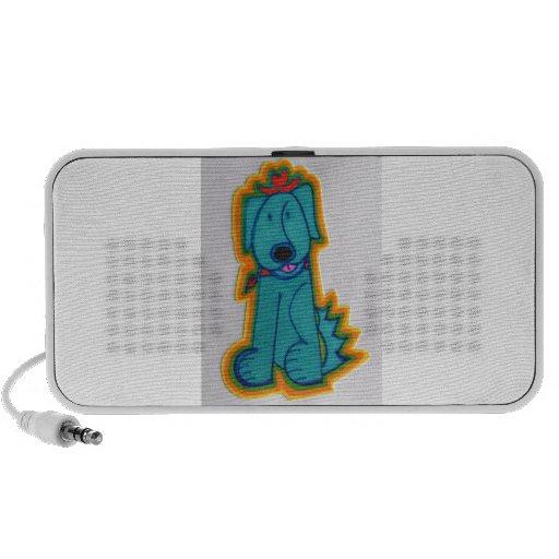Blue Cowboy Dog with Heart Speaker