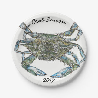 Blue Crab 7 Inch Paper Plate