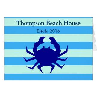 Blue Crab Beach House Nautical ThemeGreeting Cards