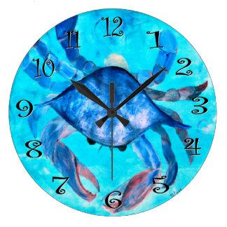 blue crab boil wall clock