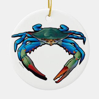 Blue Crab Ceramic Ornament