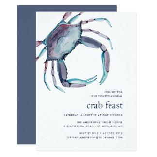 Blue Crab   Crab Feast Invitation