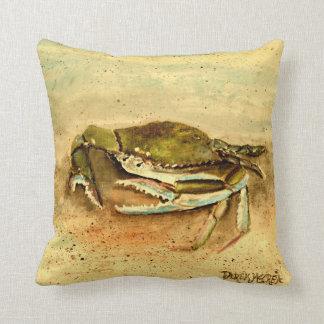 blue crab crabs beach pillow