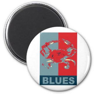 Blue Crab Iconized 6 Cm Round Magnet