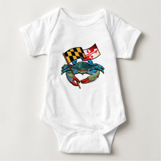 Blue Crab Maryland flag Baby Bodysuit
