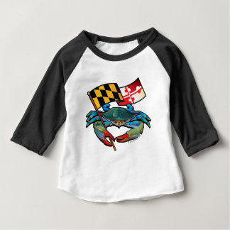 Blue Crab Maryland flag Baby T-Shirt