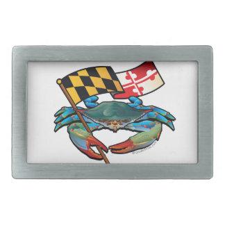 Blue Crab Maryland flag Belt Buckles