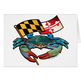Blue Crab Maryland flag Card