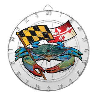 Blue Crab Maryland flag Dartboard