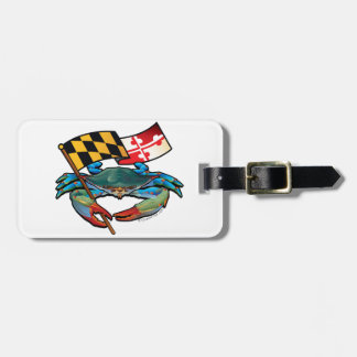 Blue Crab Maryland flag Luggage Tag