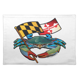 Blue Crab Maryland flag Placemat