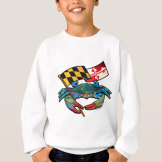 Blue Crab Maryland flag Sweatshirt