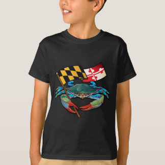 Blue Crab Maryland flag T-Shirt