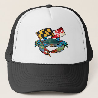 Blue Crab Maryland flag Trucker Hat