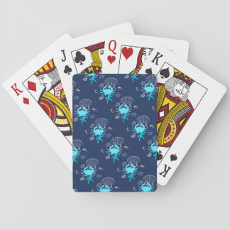 Blue Crab Nautical Theme Playing Cards