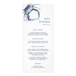 Blue Crab | Nautical Wedding Menu Card